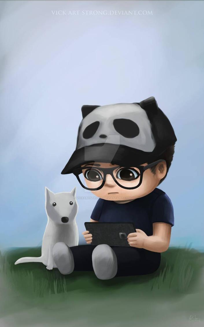 Panda Hat by VickArtStrong