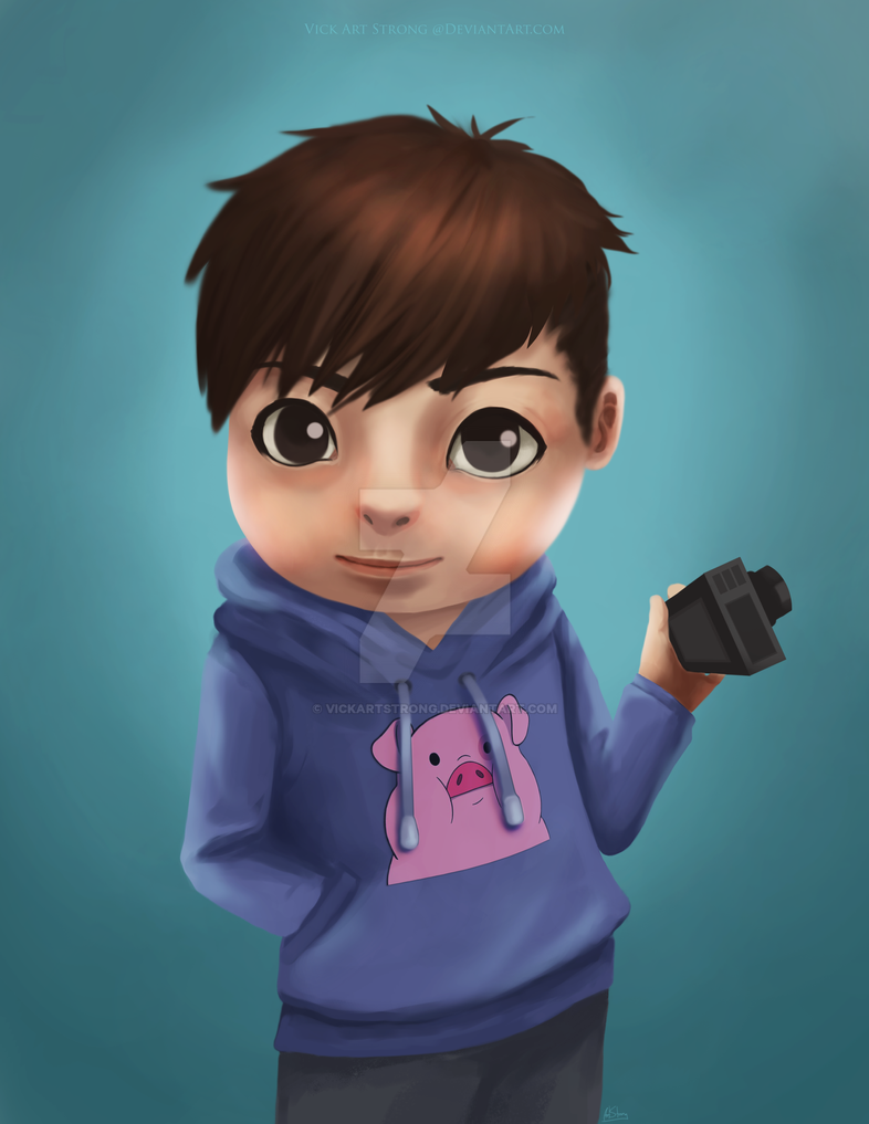 Chibi Portrait Request by VickArtStrong