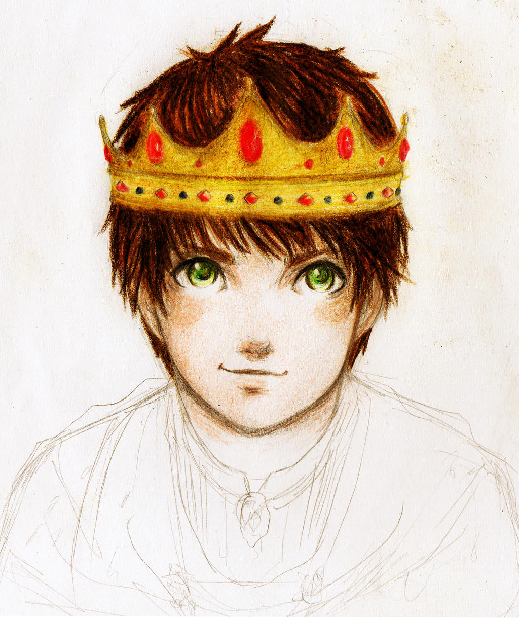 King Jaron of Carthya WIP by TheRookieCookie