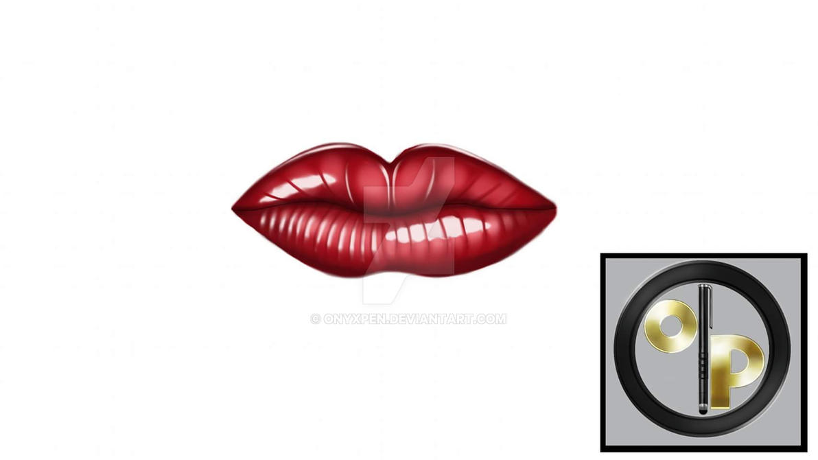 Practice Sketch: Red Juicy Lips by OnyxPen