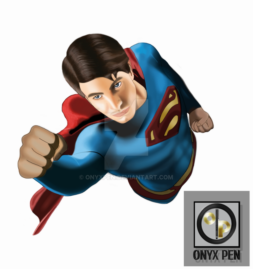 Brandon Routh as Superman by OnyxPen