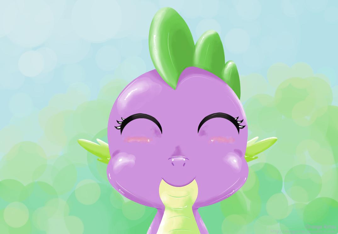 Spike loves brony by OrangeRitsu