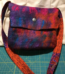 Wet Felted Purse 01 - front