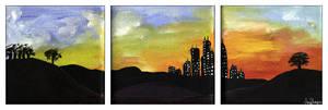 Sunset City by laiaratoiel