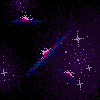 Pixel Galaxy Field by metal-beak