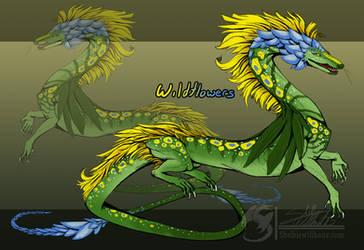 Dragon Adoptable: Wildflowers [OPEN] (Reduced) by metal-beak
