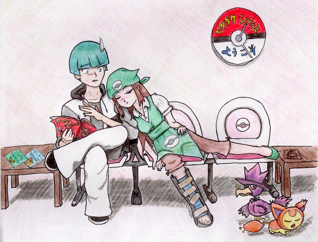 Odd Couple in Fuchsia City by Yokusezu-Tenshi