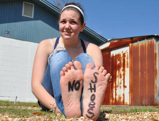 No shoes again.. by Darthbane2007