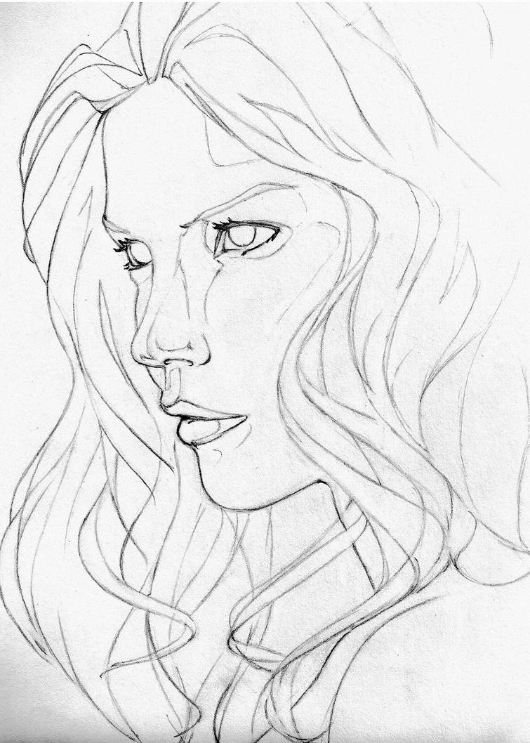 Contour Line Drawing People : Contour study by devious on deviantart