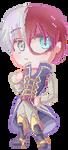 Prince Shouto Pixel Chibi by Azurphore