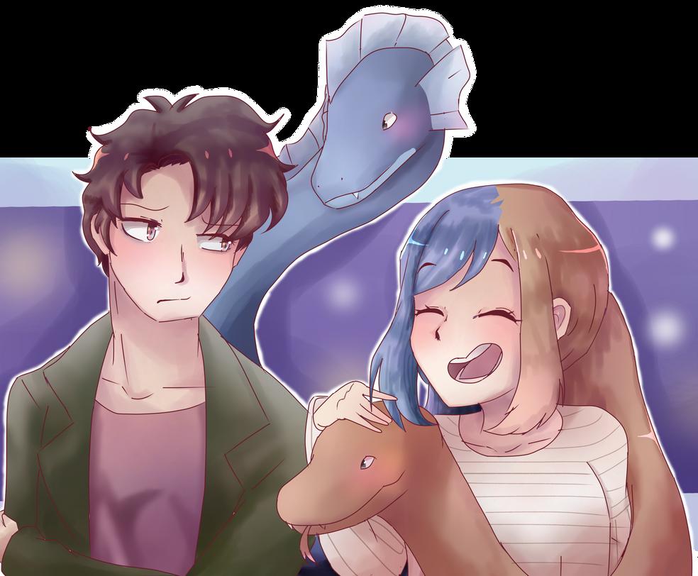 Usuna Kenzaki and Orochi Mia by Azurphore