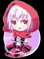 Itamei Sitting Pixel Doll by Azurphore