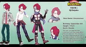 BnHA OC: Daiyaku Eiji Reference Sheet by Azurphore