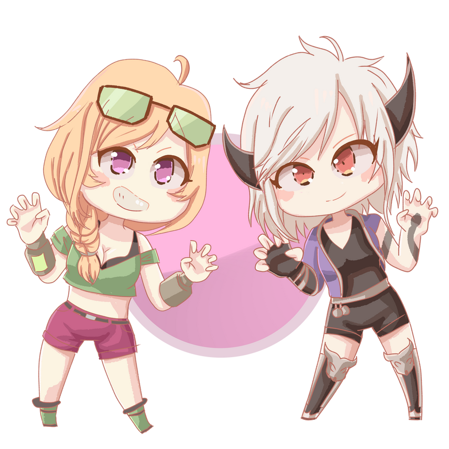 Risha and Akumu by Azurphore