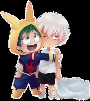 Izuku and Raiden Chibis by Azurphore