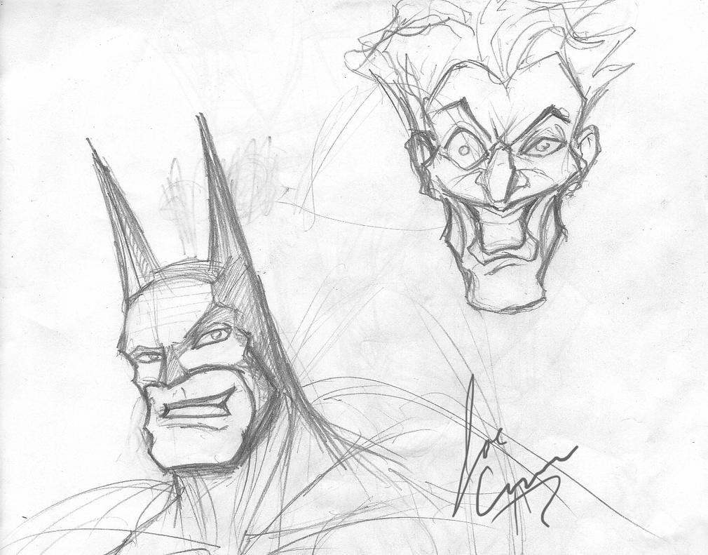 Batman And Joker Sketch By JoeCurr On DeviantArt