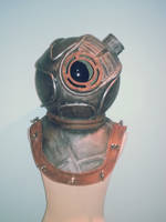 Bioshock Big Sister Helmet n/a lights by fangirlasylum