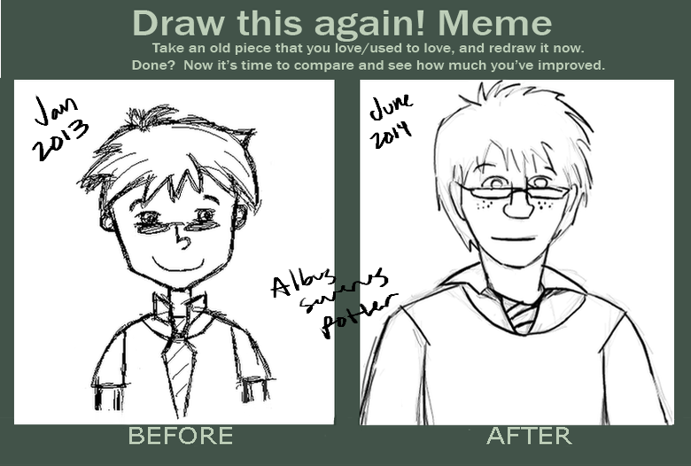 Before and After Meme - Albus Severus by pinktwirlz