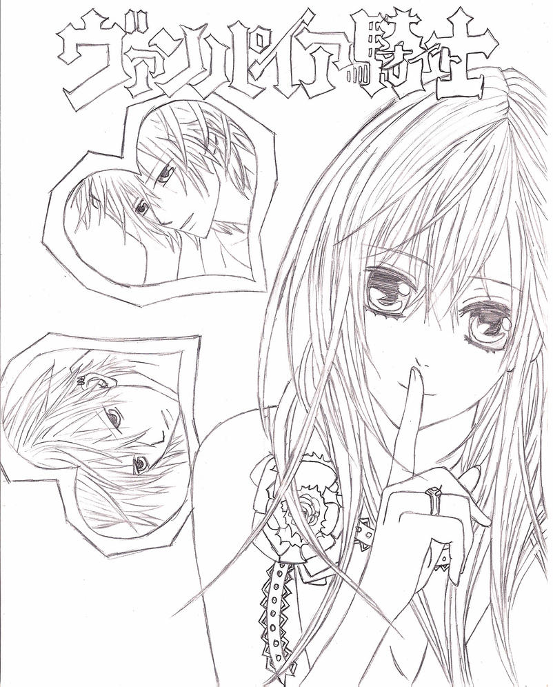 Vampire knight by trax 32 on deviantart for Vampire knight coloring pages