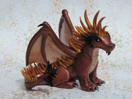 Bronze + Gold Maned Dragon by KuddlyKreatures