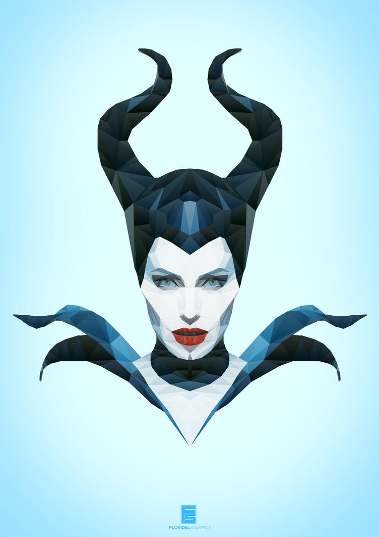 maleficent low poly art by floridelsalamat on deviantart. Black Bedroom Furniture Sets. Home Design Ideas