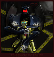 25.Police- Bumblebee_Barricade by Evess