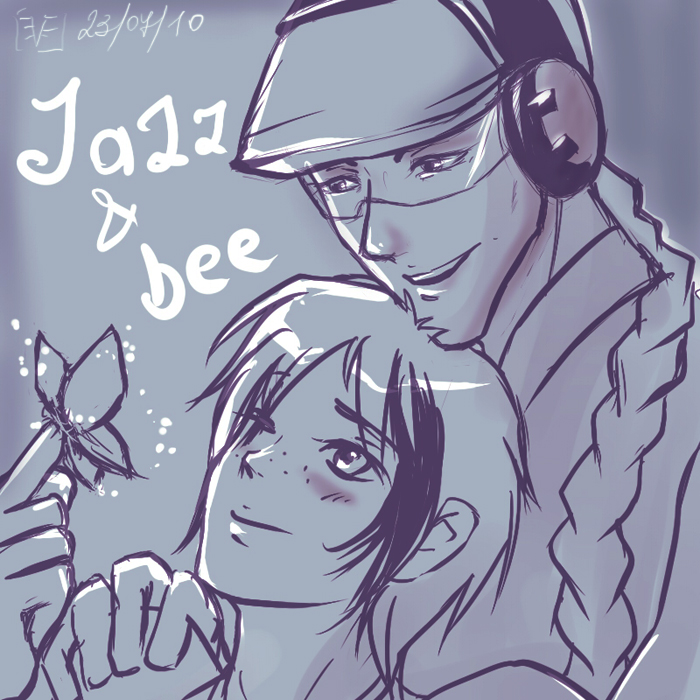 humanized jazz-bee sketch by Evess
