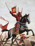 Charge of the red devil