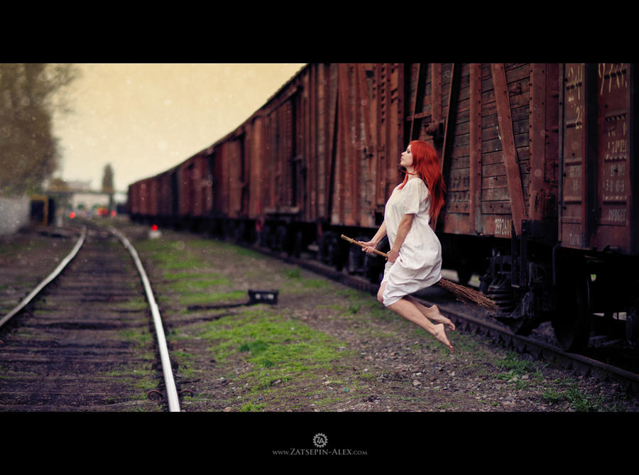 Train station Witch by Elisanth
