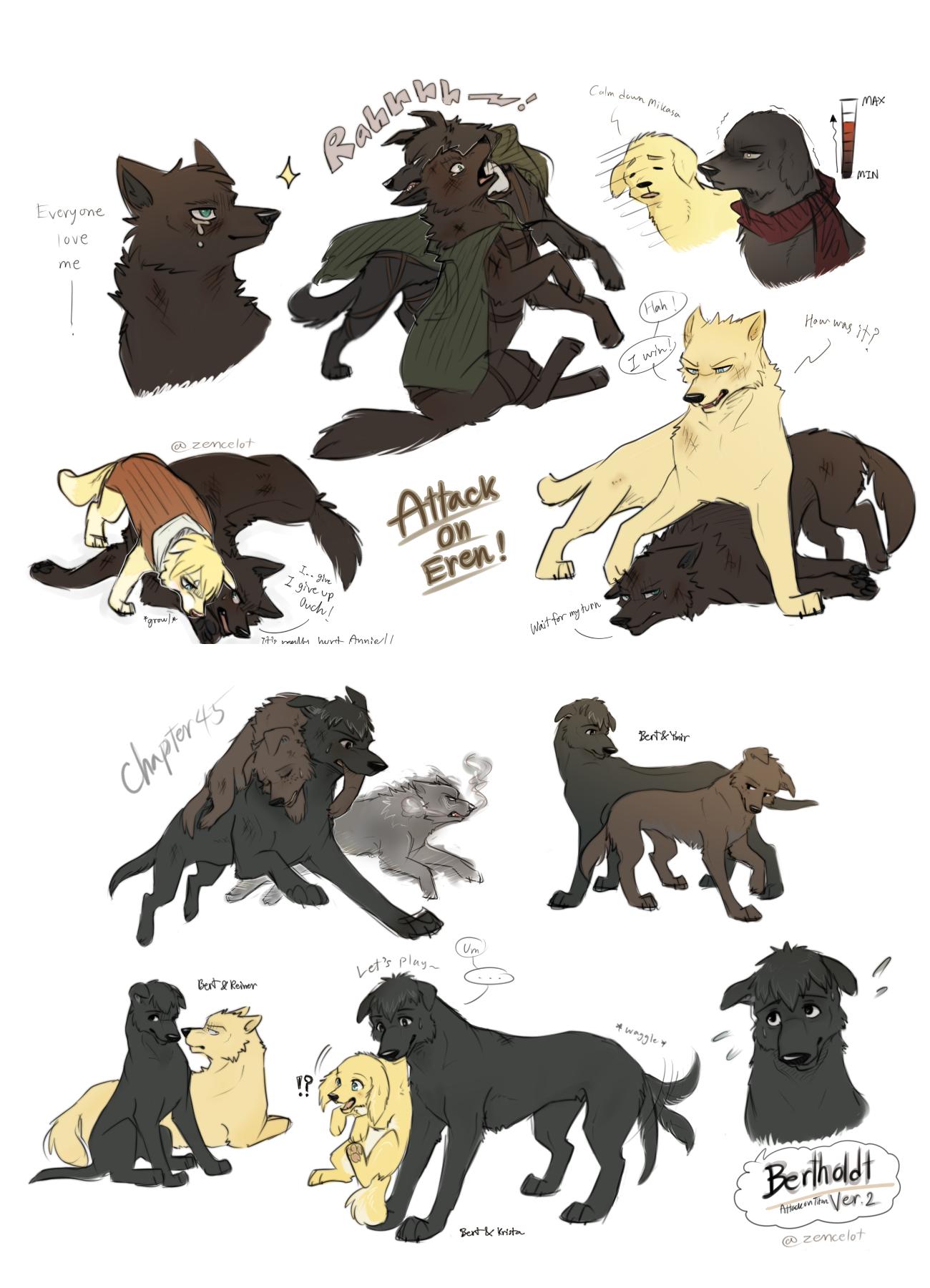 Attack On Titan Dogs