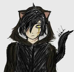 Gothic Cat by YamiriAshKyu