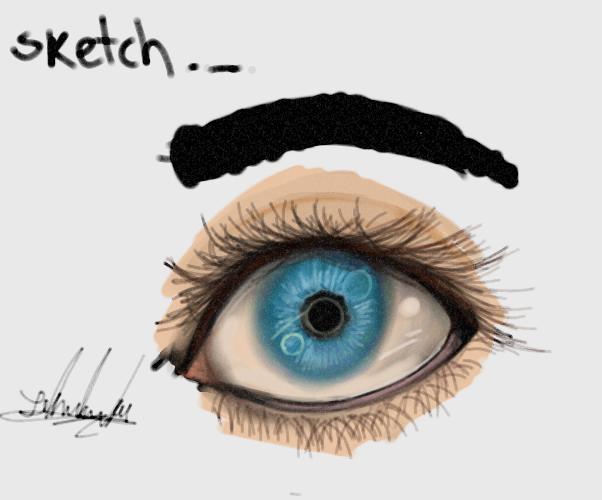 Eye Sketch by YamiriAshKyu