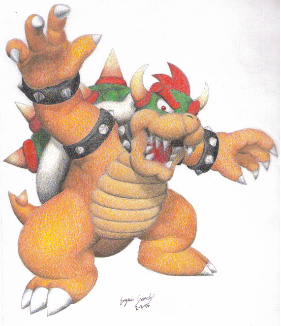 Bowser Roaring by Dragonlady333