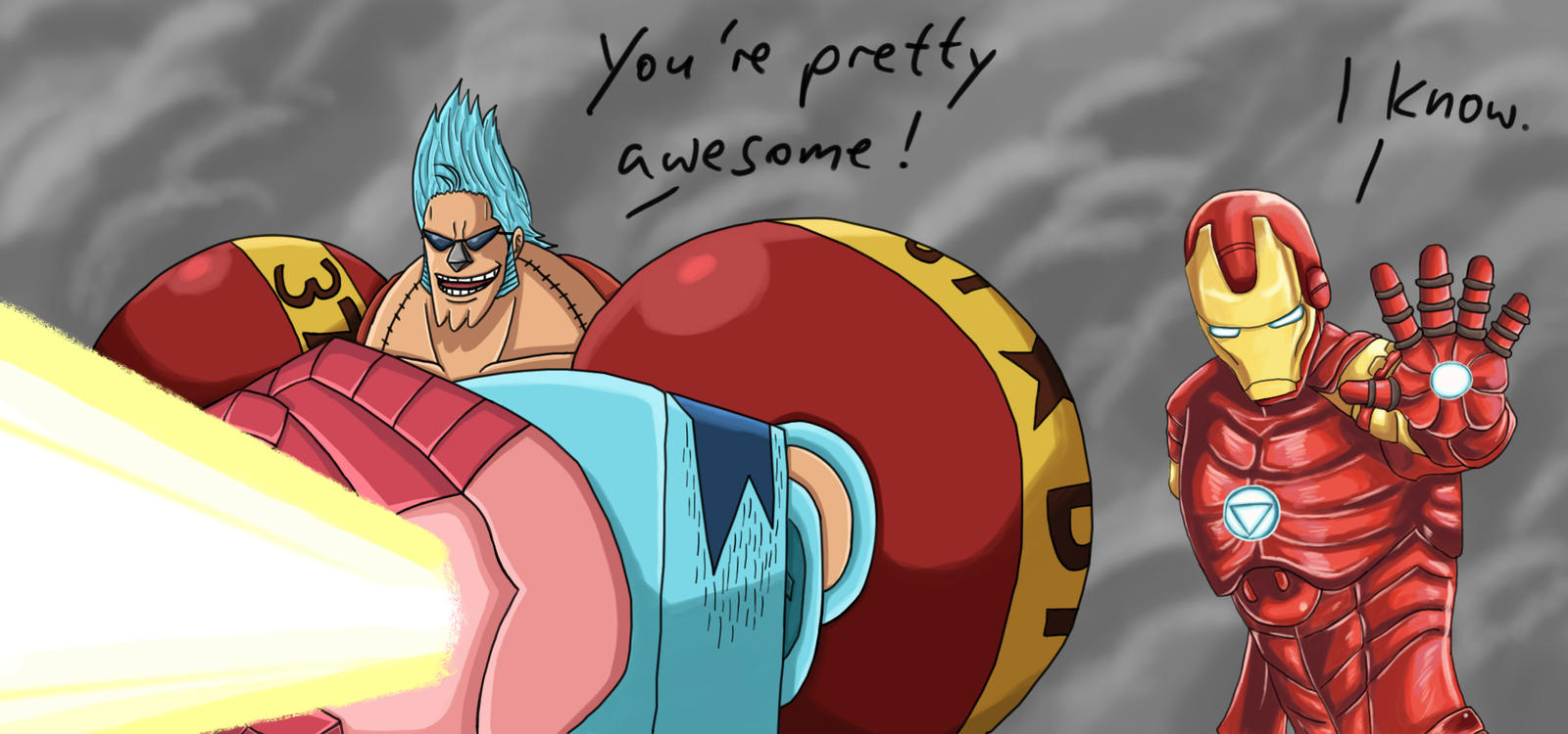 Franky and Iron Man - The Perfect Team by TolkienOP