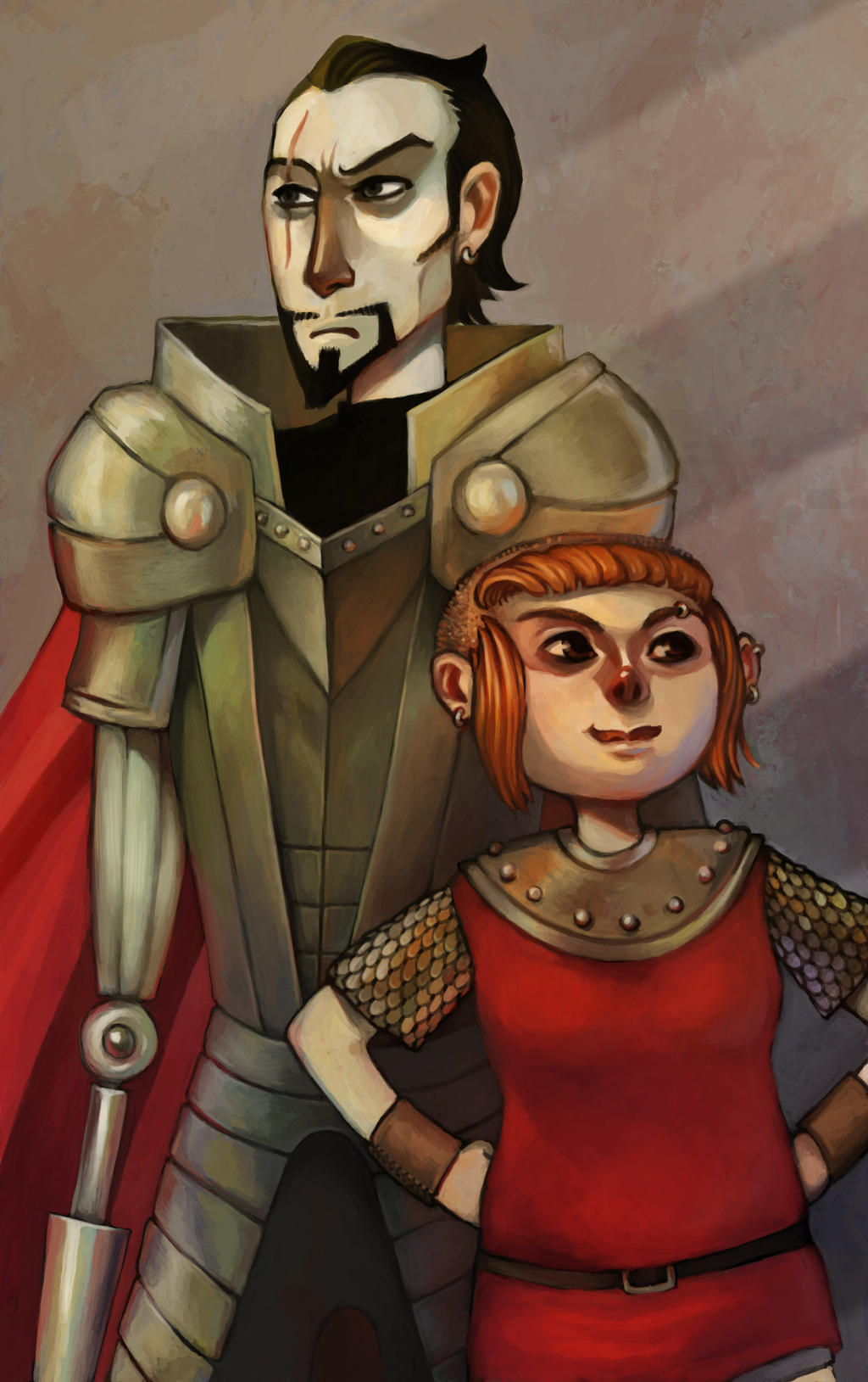 Nimona and Blackheart by amytaluuri