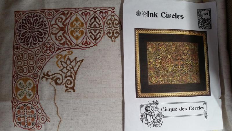 Ink Circles WIP by alaskanstitcher