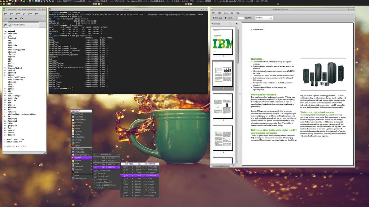 FreeBSD 10 / Openbox / ZFS / beadm by vermaden