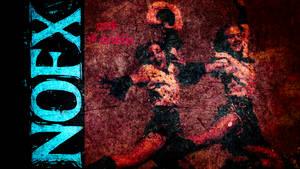 NOFX - Red Grunge 'Punk In Drublic' wallpaper