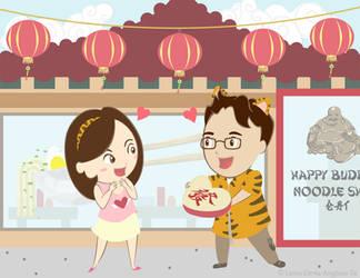 Valentine's in Chinatown by juzagirl