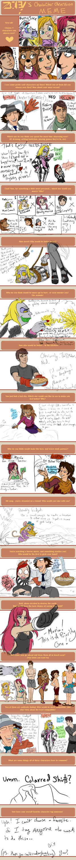 Character Obsession Meme WOO by ForeverKnight