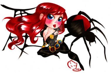 pure black widow by selene-nightmare69