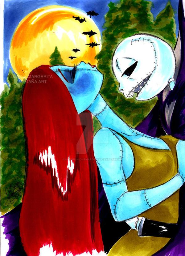 Jack and Sally : Vampire romance by selene-nightmare69