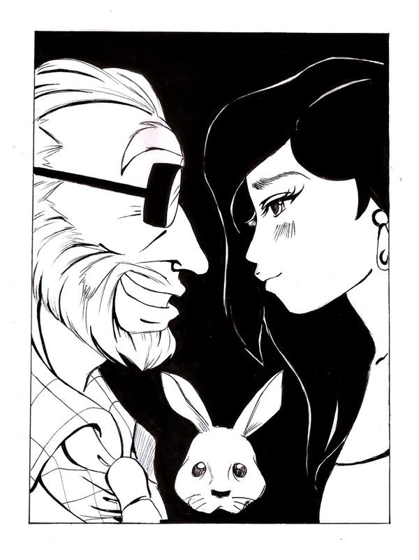 Our magical date ( comic portait) by selene-nightmare69