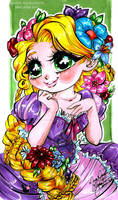 cartoonized Rapunzel