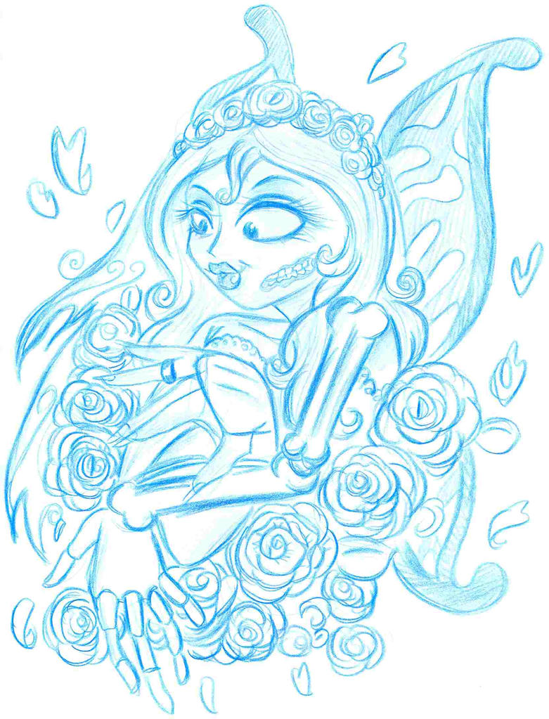 Corpse Bride Butterfly Tattoo Emily:corpse bride by selene-