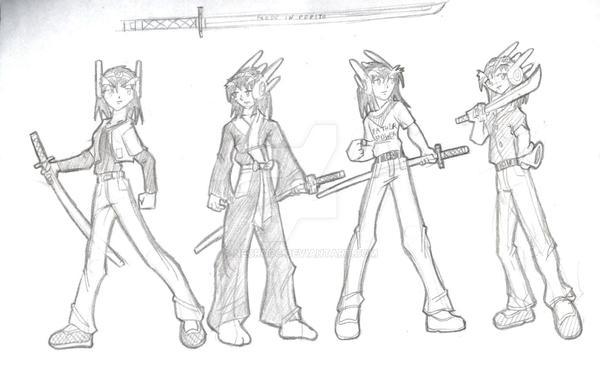 Star Ronin: Toji Sketch 3 by NecroCC