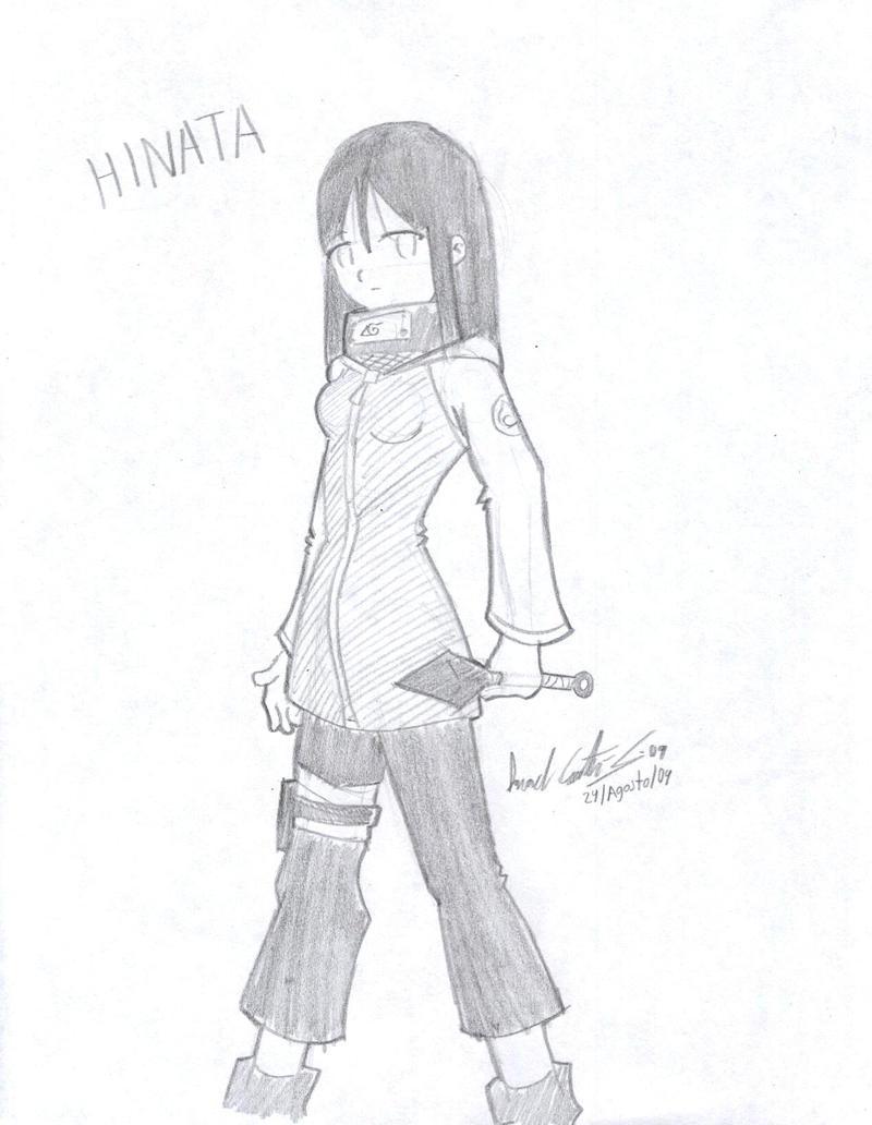 Hinata a mi estilo lapiz by NecroCC