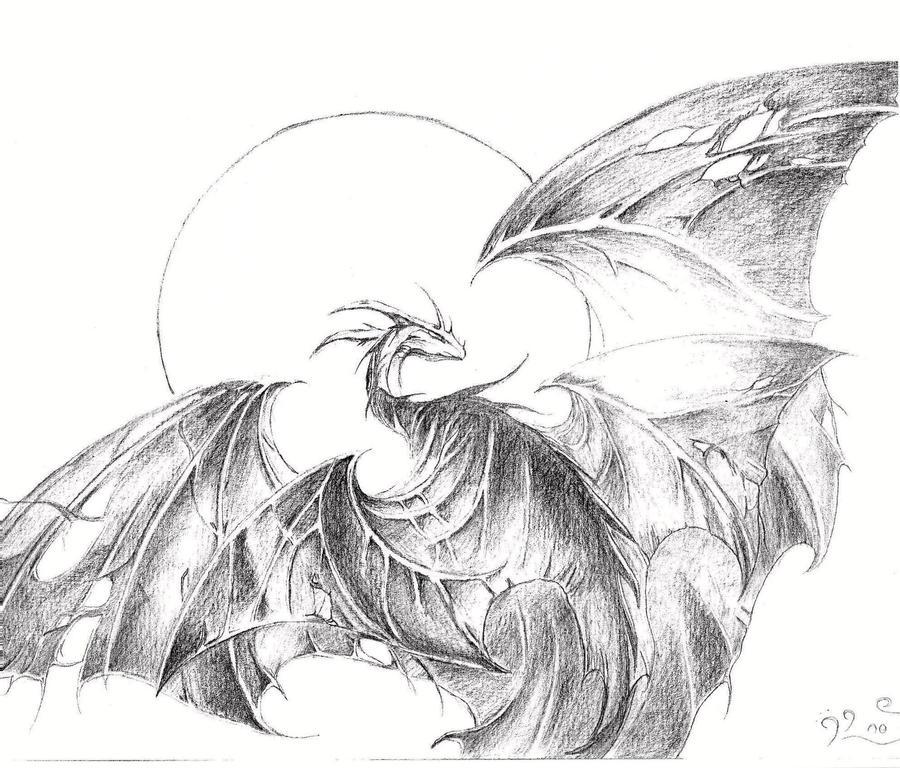 Night Dragon - Elian Black' Mor by Kaze-no-Inaya