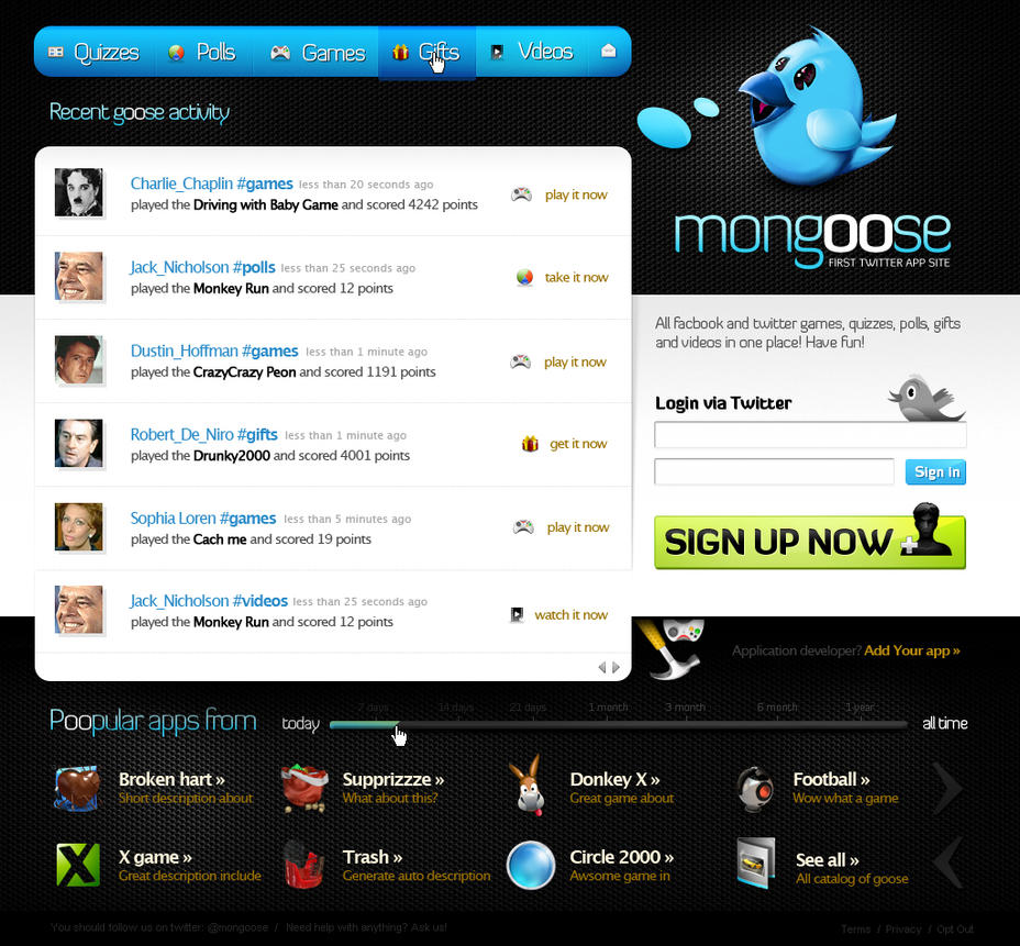 Mongoose.com v1 by shizm