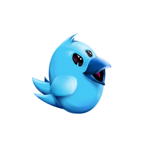 Twitter bird mascot by shizm